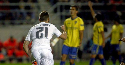 Cheryshev celebrando un gol en contra el C�diz.