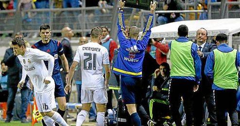 Imagen del partido de Copa celebrado en el Carranza.