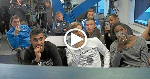 La reacción de los jugadores del Molde tras saber que jugarán ante el Sevilla