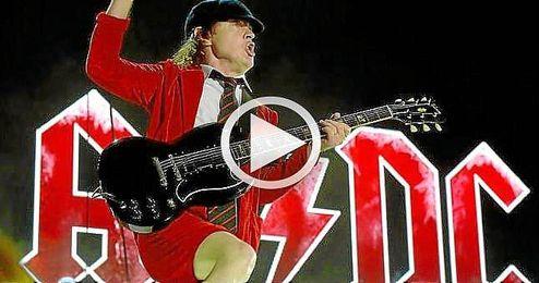 Imagen de un concierto del famoso grupo AC/DC.