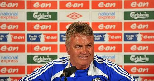 Hiddink a su paso por el Chelsea.