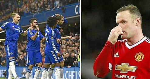 El Chelsea ha ganado al Sunderland (3-1) y el United ha perdido ante el Norwich City (1-2).