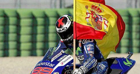 Jorge Lorenzo campeón de Moto Gp.