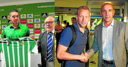 Juan Vargas y Michael Krohn-Dehli, dos ejemplos de futbolistas que llegaron libres a Sevilla.