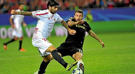 Banega, en el partido contra la Juventus.