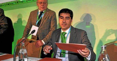 Ángel Haro, en la pasada junta de accionistas del Betis.