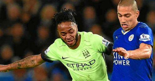 Leicester y Manchester City disputaron un encuentro muy igualado.