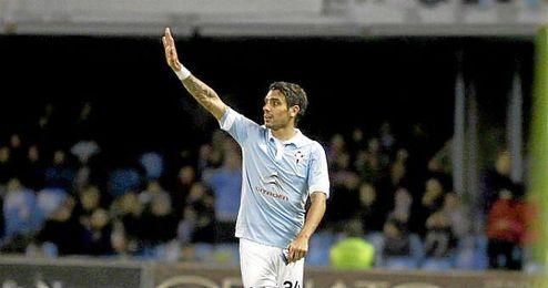 Augusto en un partido de la Liga BBVA disputado entre Celta y Athletic.