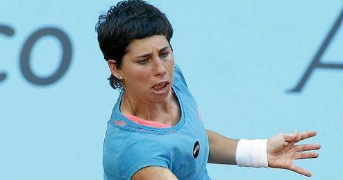 Carla Suárez, durante un partido de la temporada pasada.