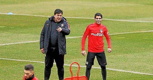 En la imagen, Augusto Fernández entrenando con el Atlético de Madrid.