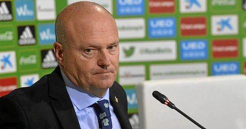 Pepe Mel, en la rueda de prensa tras el duelo frente al Eibar.