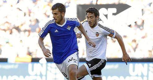 Imagen del partido de ida entre el Valencia y el Real Betis.