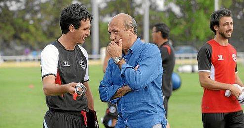 Emery, con Del Nido en una pretemporada.