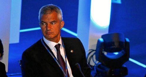 En la imagen, el directivo encargado del primer equipo de f�tbol del FC Barcelona, Javier Bordas.