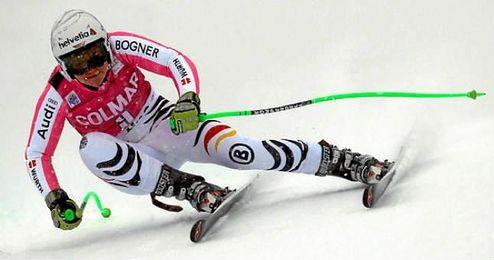 Imagen de la alemana Viktoria Rebensburg en una competici�n.