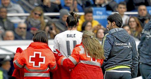 Bale se retiró lesionado ante el Sporting.