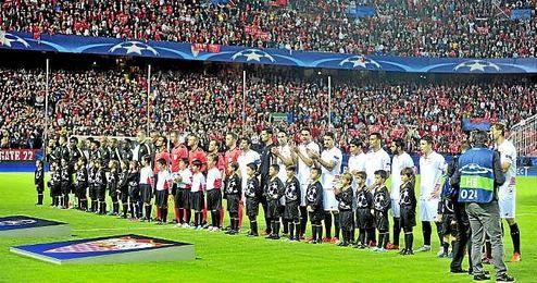 Imagen del Sánchez Pizjuán en uno de los partidos de esta temporada de Champions League.