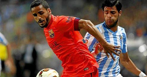 Douglas solo ha jugado dos partidos esta temporada con el Bar�a, ante el Rayo Vallecano en Liga y ante el Villanovense en Copa del Rey.