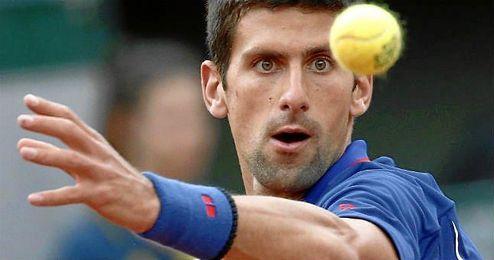 Novak Djokovic doblegó sin apuros al francés Quentin Halys.