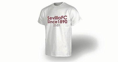 Camiseta conmemorativa para el Atl�tico-Sevilla.