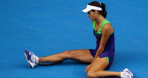 Ana Ivanovic se lamenta sobre la pista del Abierto de Australia