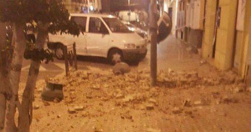 Los derrumbes en las casas se han dado en toda Melilla.