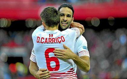 Carriço y Rami forman una buena dupla en defensa.