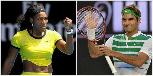 Serena y Federer son habituales en las semifinales de Australia.