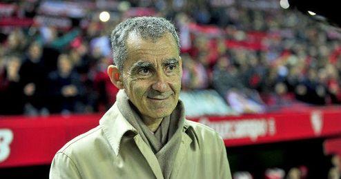 Carlos Terrazas en el Sánchez Pizjuan durante el partido de ida