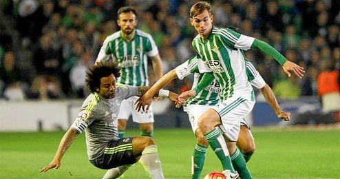 Fabián, en el partido ante el Real Madrid.