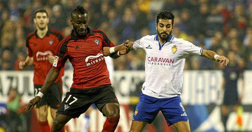 Lago Junior jug� su �ltimo partido como jugador del Mirand�s frente al Zaragoza