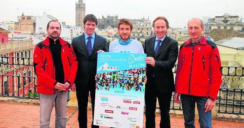 El delegado de Deportes, David Guevara, no se quiso perder la presentaci�n del evento.