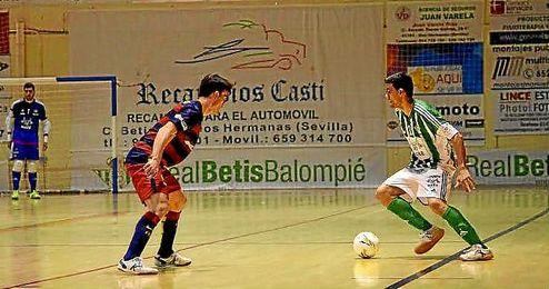 Imagen del partido de la pasada jornada ante el filial blaugrana.