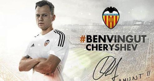 El Valencia ha anunciado así la cesión de Cheryshev.