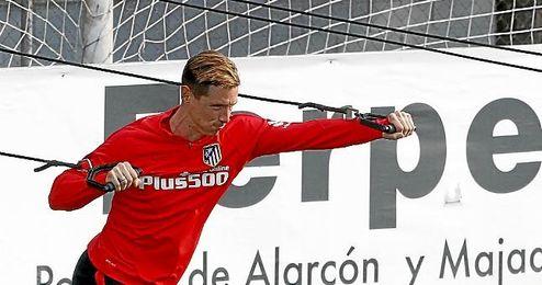 Fernando Torres durante un entrenamiento