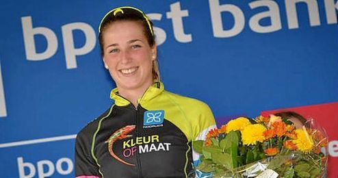 En la imagen, la ciclista investigada Van den Driessche.