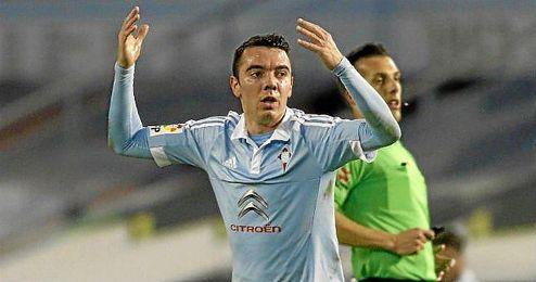 Iago Aspas, durante un partido con el Celta de Vigo.