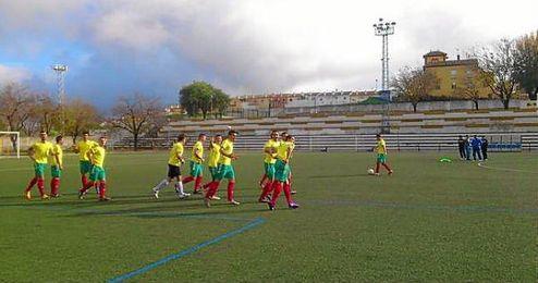 Imagen de un partido del Racing Los Molares.