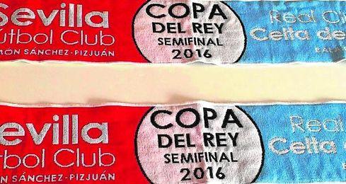 Bufanda conmemorativa que regalará el club durante el partido de ida de mañana.