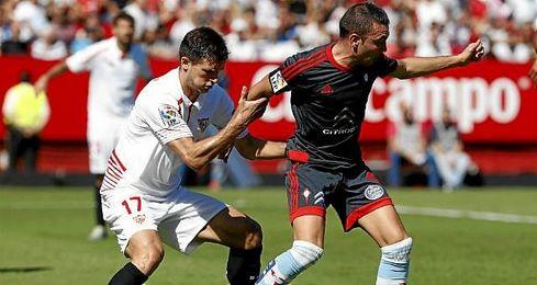 Imagen del partido de ida del campeonato liguero entre el Sevilla FC y Celta de Vigo.