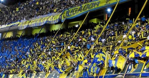 En la imagen, ultras argentinos.