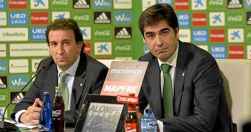 Catalán y Haro, durante la rueda de prensa de hoy jueves.