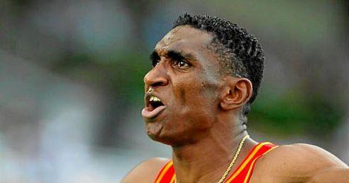 En la imagen, el atleta espa�ol Jackson Qui��nez.