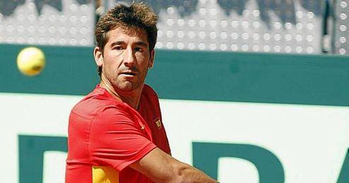 En la imagen, el tenista espa�ol Marc L�pez.
