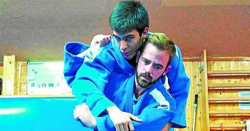 El judoca sevillano Abel Vázquez se prepara en Madrid para los Paralímpicos de Río 2016.
