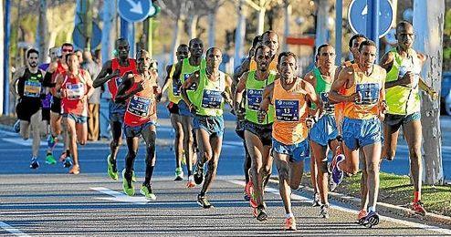 Imagen de la edición XXXI del Maratón de Sevilla.
