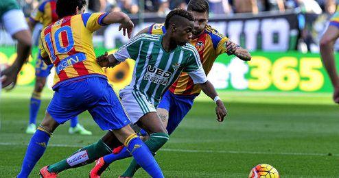 Musonda mostró desparpajo en su estreno ante el Valencia.