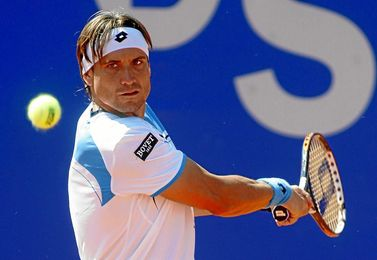 David Ferrer durante un partido del Torneo.