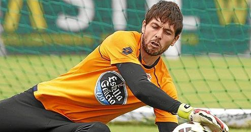 Germ�n Lux, portero titular del Deportivo.