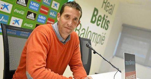Juan Merino, hoy en sala de prensa.